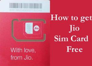 Jio sim free